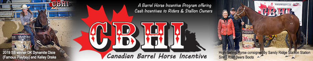 Canadian Barrel Horse Incentive - A barrel horse incentive program offereing cash incentives to riders & stallion owners